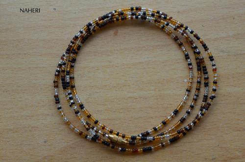 African beaded four colors waist beads