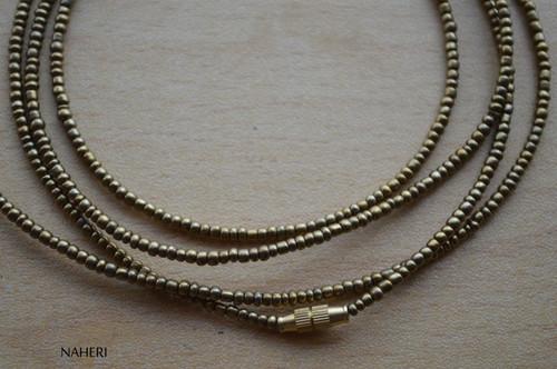 African beaded copper brown waist beads