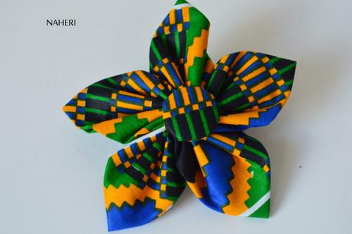 African print star hair clip kente
