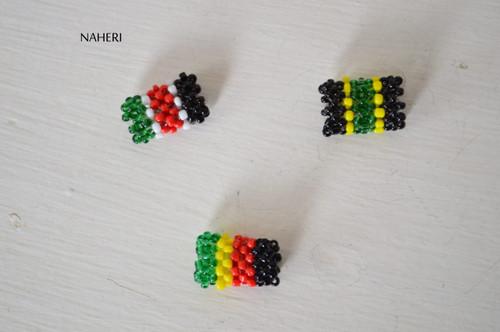 Beaded braids and rasta beads multi color
