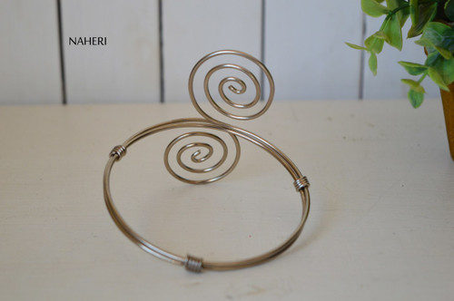 African inspired silver wired armlet