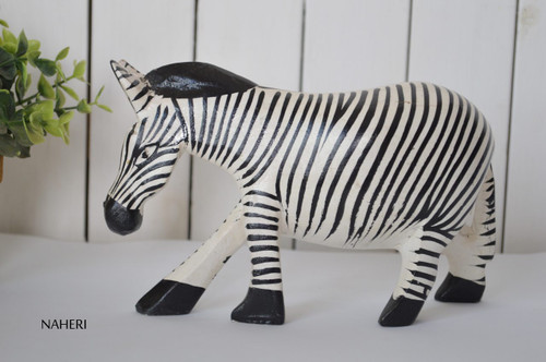 African inspired animal carving Zebra