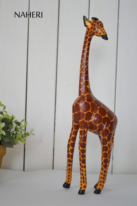African inspired animal carving Giraffe