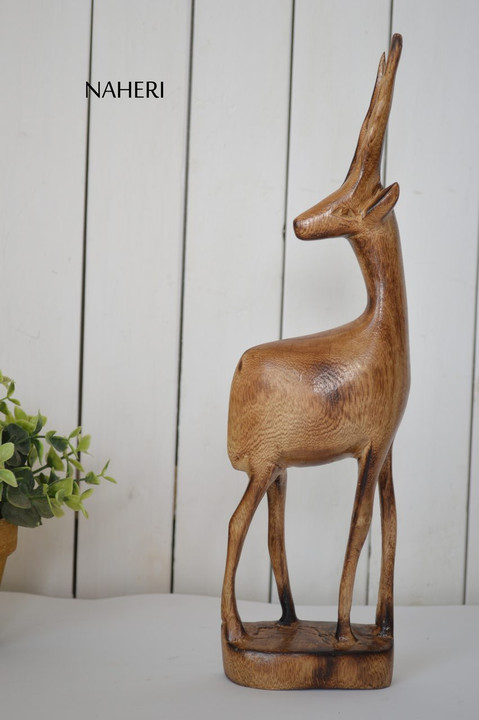 African inspired animal carving Gazelle