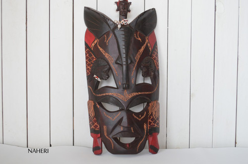 African inspired wall hanging mask large