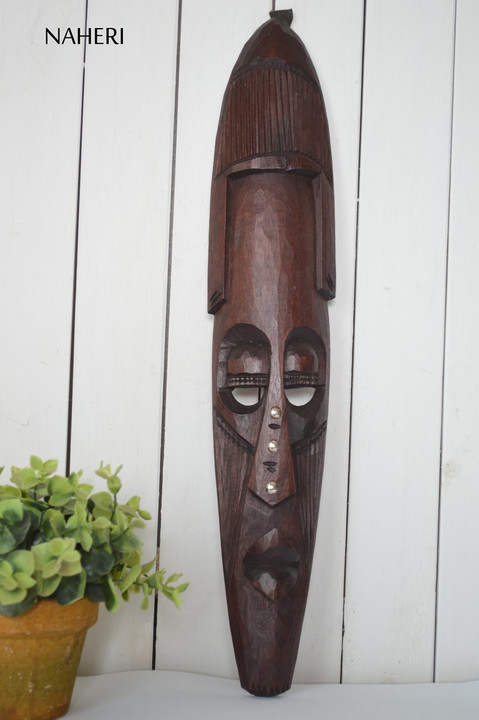 African inspired wall hanging mask long