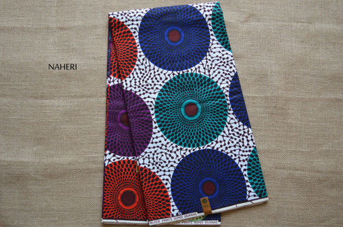 African print fabric record print 5 yards