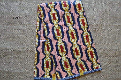 African print fabric vertical pattern 5 yards