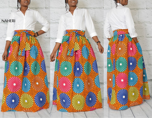 African print skirt record tribal inspired clothing