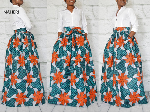 African print skirt floral tribal inspired clothing