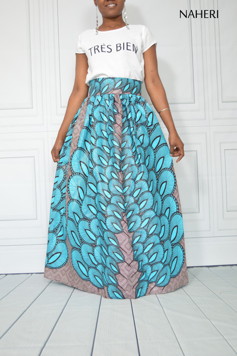 African print maxi skirt - ZAINA tribal skirt African fashion