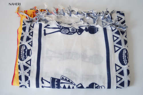 African inspired wrap/scarf African woman print