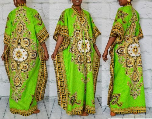 African inspired caftan Green