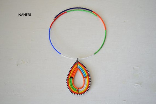 African maasai tribal pendant necklace