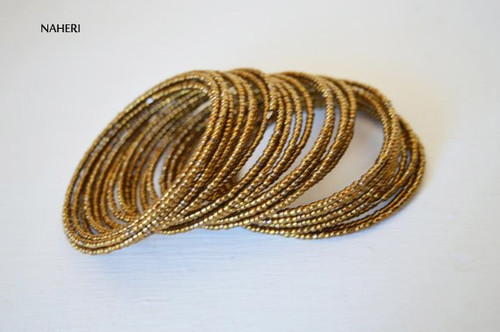 beaded spiral coil bracelets African maasai jewelry