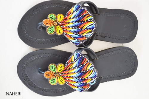 African maasai beaded sandals summer shoes for women