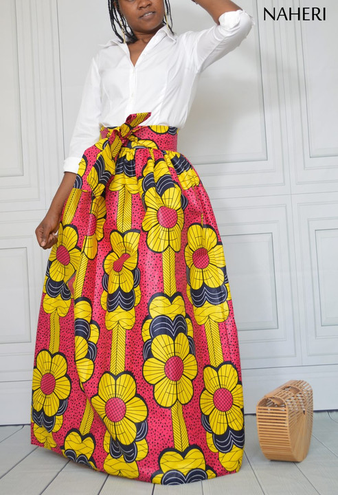 African print skirt maxi ankara fabric long skirt