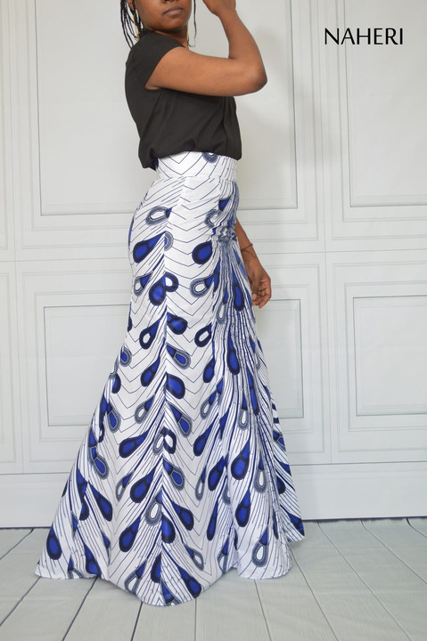 African print maxi skirt flared ankara mermaid skirt