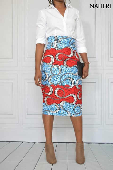 African ankara print pencil skirt - NINA handmade skirt