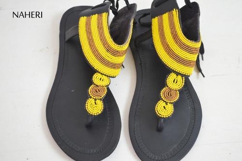 African summer sandals handmade beaded sandals naheri