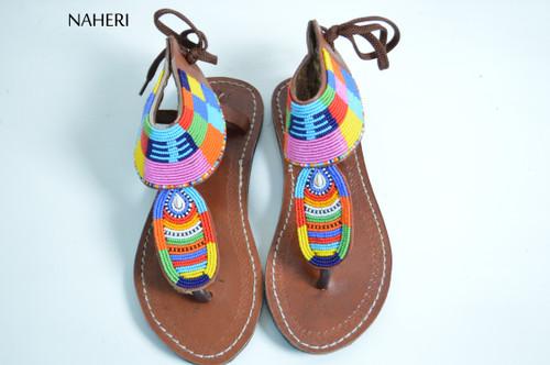 Summer beaded sandals African handmade beaded sandals naheri