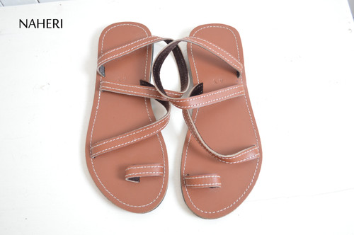 African leather sandals handmade summer sandals  - OLE