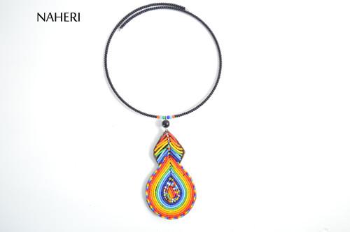 African beaded maasai pendant necklace tribal designer neck piece