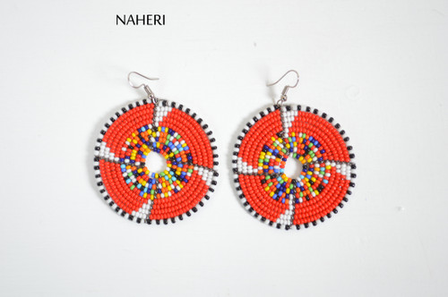 African beaded zulu maasai earrings tribal jewelry
