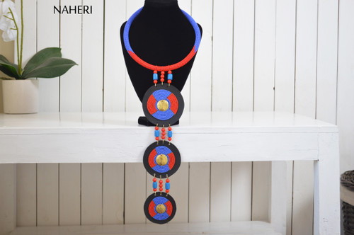 naheri African tribal beaded necklace maasai zulu beaded jewelry