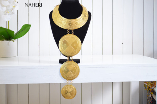 African brass metal necklace handmade trendy jewelry