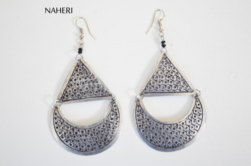 African boho style silver earrings trendy jewelry naheri