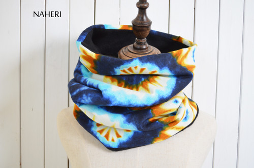 African print fabric snood tie and dye naheri accessories