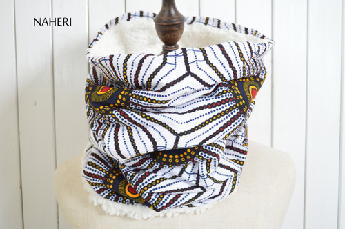African print snood tribal neck warmer by naheri