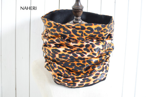 African inspired snood animal print tribal neck warmer