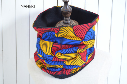 African print cowl tribal neck warmer by naheri