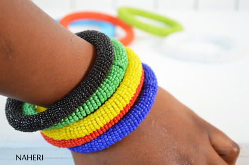 African beaded bracelets plain color bangles naheri