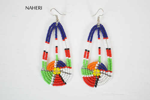 African beaded earrings African jewelry naheri