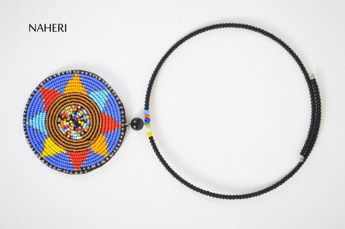 African beaded jewelry maasai pendant necklace naheri