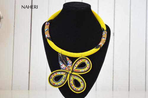 African necklace zulu pendant jewelry yellow naheri