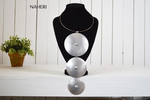 African aluminum metal necklace handmade trendy jewelry naheri