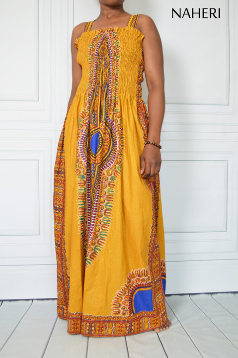 African print maxi dress - NANA dashiki dress amber naheri