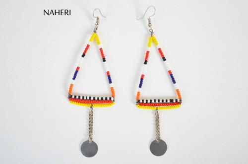 African maasai handmade beaded earrings jewelry by naheri