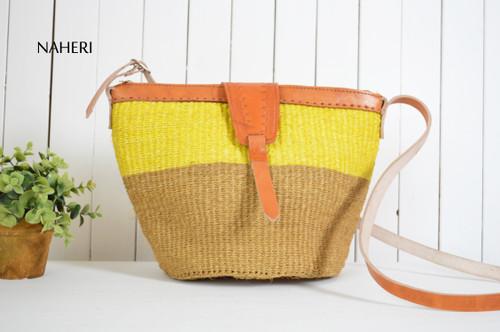 African sisal hand woven shoulder bag naheri accessories