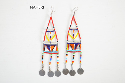 African maasai earrings handmade jewelry naheri
