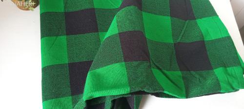 African Maasai Shuka checked green and black naheri accessories