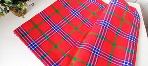 Maasai Shuka African cloth red plaid naheri accessories