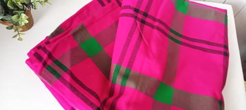 African Maasai Shuka hot pink plaid naheri accessories