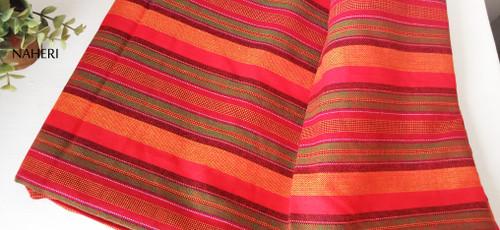 African Maasai Shuka orange stripes naheri accessories