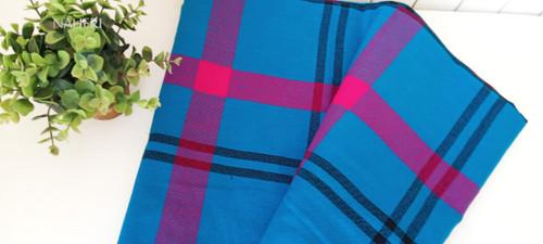 African Maasai Shuka blue plaid naheri accessories
