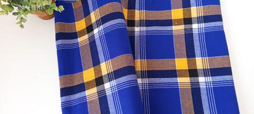 African Maasai Shuka royal blue checked naheri accessories
